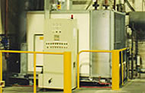 warehouse air handling unit with control panel