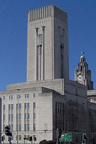 Mersey Tunnel ventilation building - Liverpool
